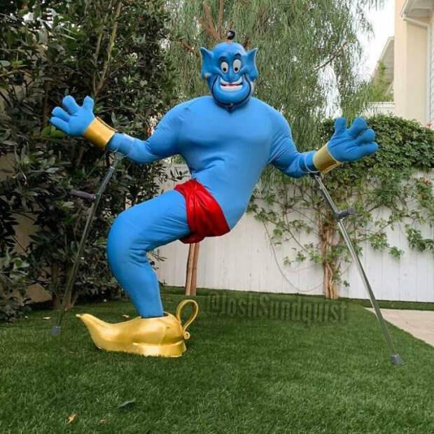 Люди с ограниченными возможностями, которые рулят Хэллоуином благодаря потрясающему чувству юмора (20 фото)
