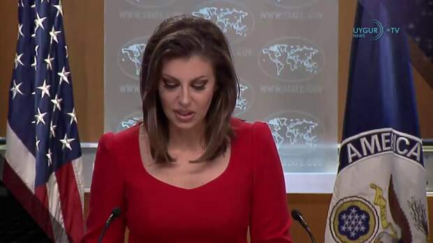 Морган Ортагус, спикер Государственного департамента США. Источник изображения: https://vk.com/denis_siniy