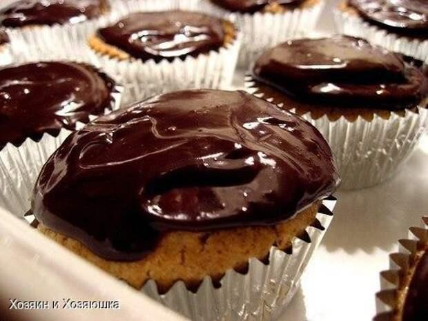 Кексы с шоколадом на кефире с манкой