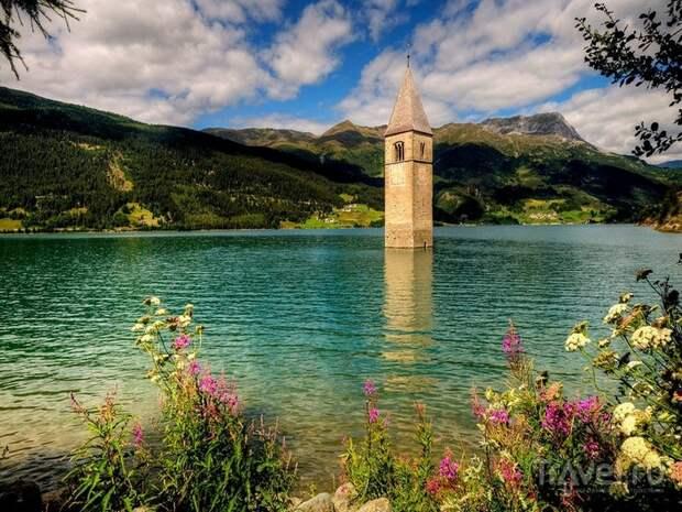 Затопленная несколько десятилетий назад деревня появилась из-под воды
