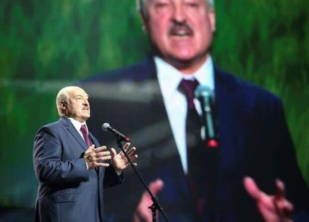 Belarusian President Alexander Lukashenko speaks at the forum of Union of Women in Minsk, Belarus September 17, 2020. Tut.By via REUTERS
