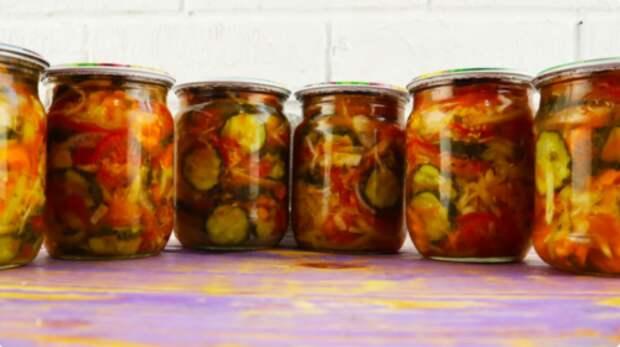 Любимый в нашей семье салат «Кубанский» на зиму