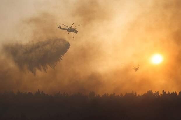 Свыше 300 человек спасены из района пожара в пригороде Афин