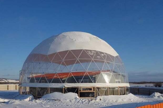 В Якутии семья перезимует в доме под куполом Якутия, Экспериментальный дом, Север, Вечная мерзлота, Фотография