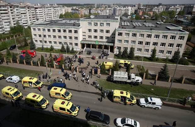 Казанский стрелок заложил бомбу враздевалке гимназии