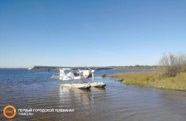 В Ноябрьске на озере Ханто приводнился сверхлегкий гидросамолет