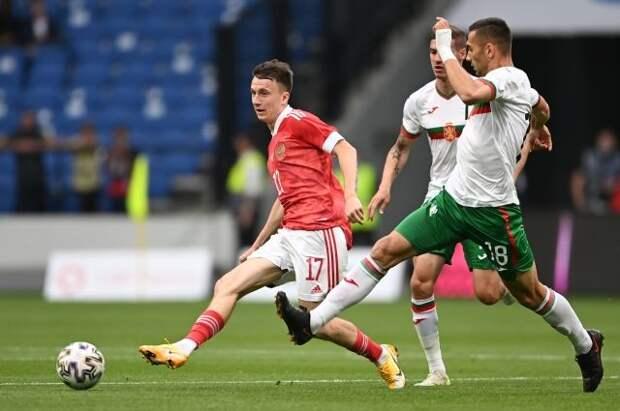 Сборная России обыграла Болгарию в контрольном матче перед Евро-2020