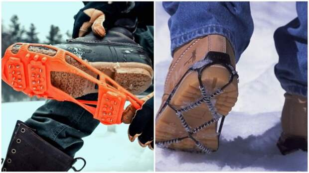 Самый надежный способ не травмироваться в гололед - использование ледоступов / Фото: indonesian.alibaba.com