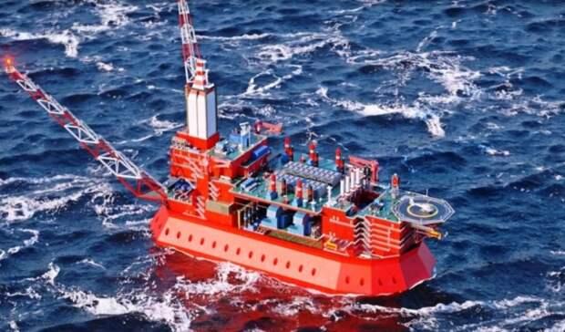Ледостойкую платформу для шельфового месторождения газа вАрктике сооружает «Газпром»