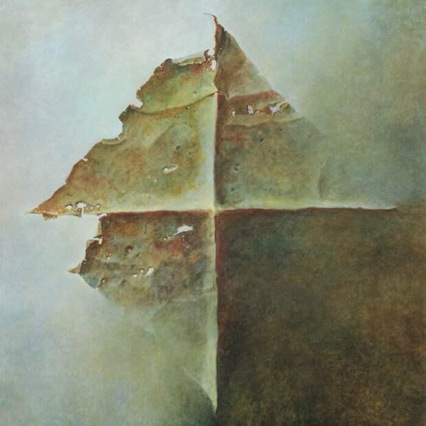 Последняя картина Здзислава Бексиньского, созданная в тот же день, когда он умер. \ Фото: mobile.twitter.com.