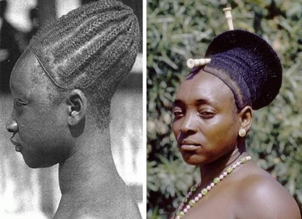 Вытянутые головы женщин мангбету. Конго. | Фото: tomboybklyn.com.
