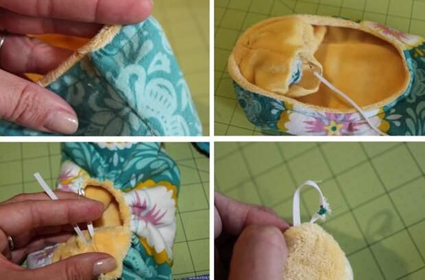 как сшить домашние тапочки своими руками