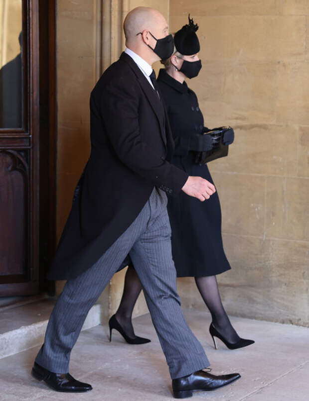 Кейт Миддлтон, принц Уильям, принц Гарри и другие на церемонии прощания с принцем Филиппом