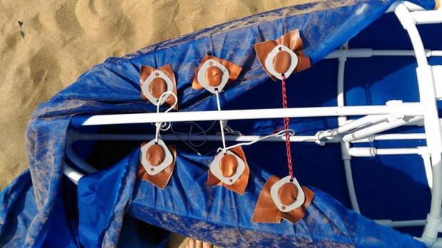 Разборный катамаран из пластиковых труб своими руками