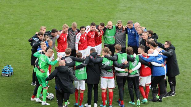 Датский квадрат: как футболисты настраивались навозобновление игры после госпитализации Эриксена
