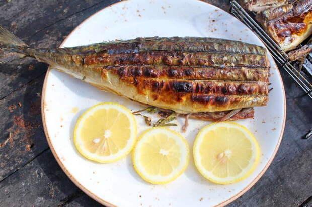 Скумбрия на мангале в лимонном маринаде Видео рецепт, Еда, Рецепт, Рыба, Мангал, Гриль, Скумбрия, Кулинария, Видео, Длиннопост