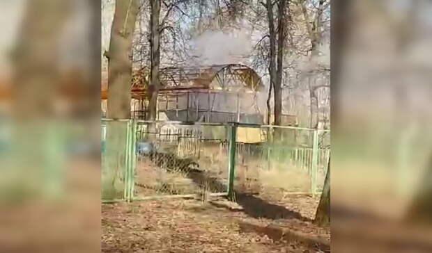 В уфимском парке загорелся аттракцион