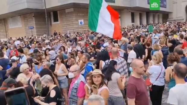 Акции протеста против «ковид-паспортов» прошли по всей Италии