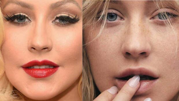С макияжем и без: 8 знаменитостей, которые не стесняются показать себя без косметики. Часть 2