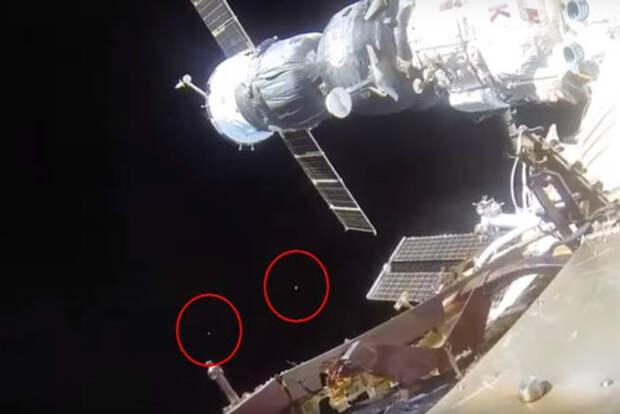 Два скоростных НЛО вели слежку за МКС во время выхода космонавтов в открытый космос