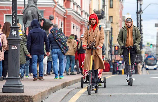 В Петербурге решили отрегулировать рынок арендных электросамокатов