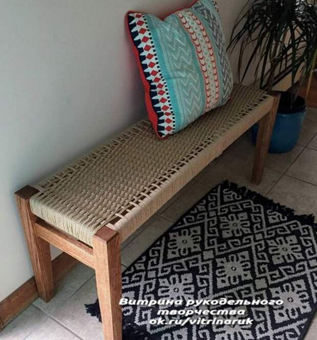 Интересная задумка для обновления дачной мебели своими руками