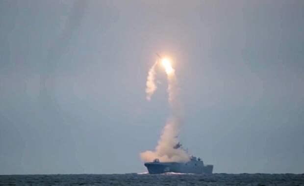 """Первый запуск гиперзвуковой ракеты """"Циркон"""" с фрегата """"Адмирал Горшков"""" в Белом море по морской цели в Баренцевом море"""