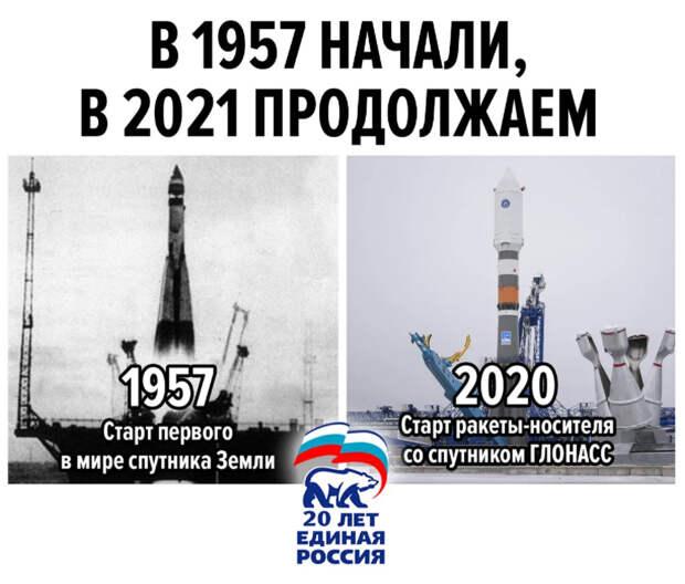 В 1957 году начали,  в 2021 продолжаем