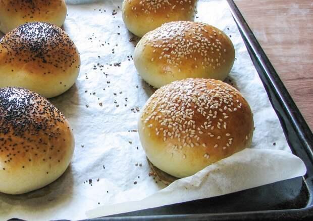 Рецепт домашних булочек для гамбургеров