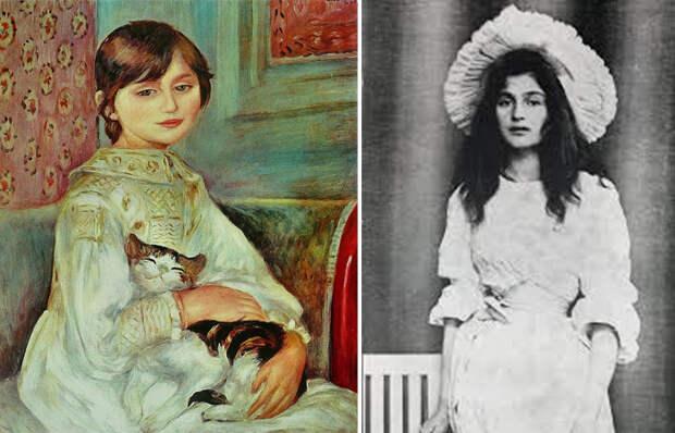 Тайна маленькой героини с картины Ренуара «Девочка с кошкой»