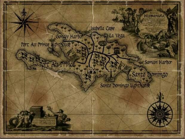 Два Гаити острова Эспаньола