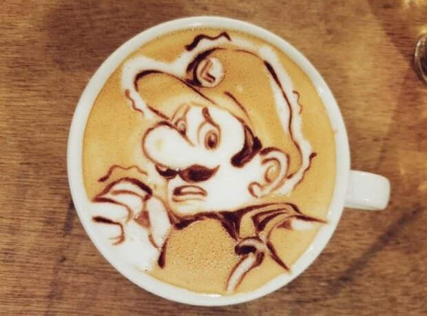 Потрясающие картины на кофе