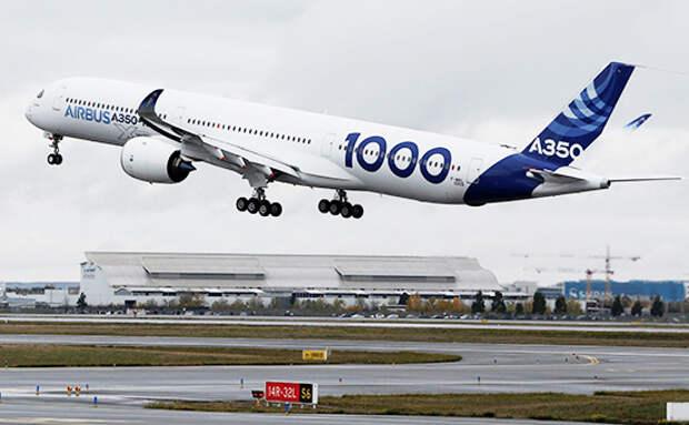 Airbus A350-1000 впервые поднялся в воздух