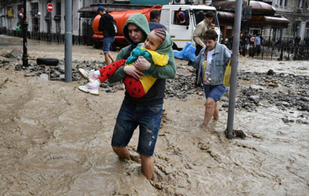 Растёт число пострадавших во время ливней в Крыму