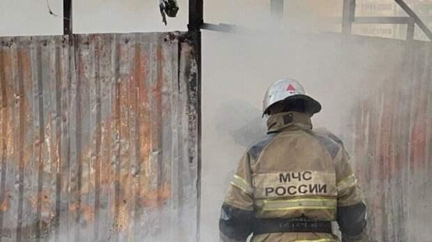 Сразу несколько домов полыхают в подмосковной деревне Рябцево