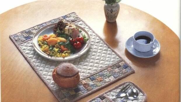 Японский пэчворк - гармония и сдержанность. Кухонный текстиль в японском лоскутном стиле