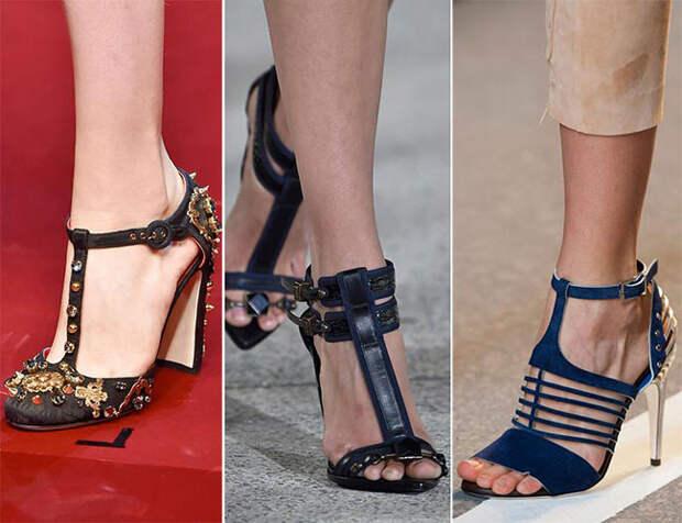 Обувь с т-образной застежкой - тенденции весна-лето 2015