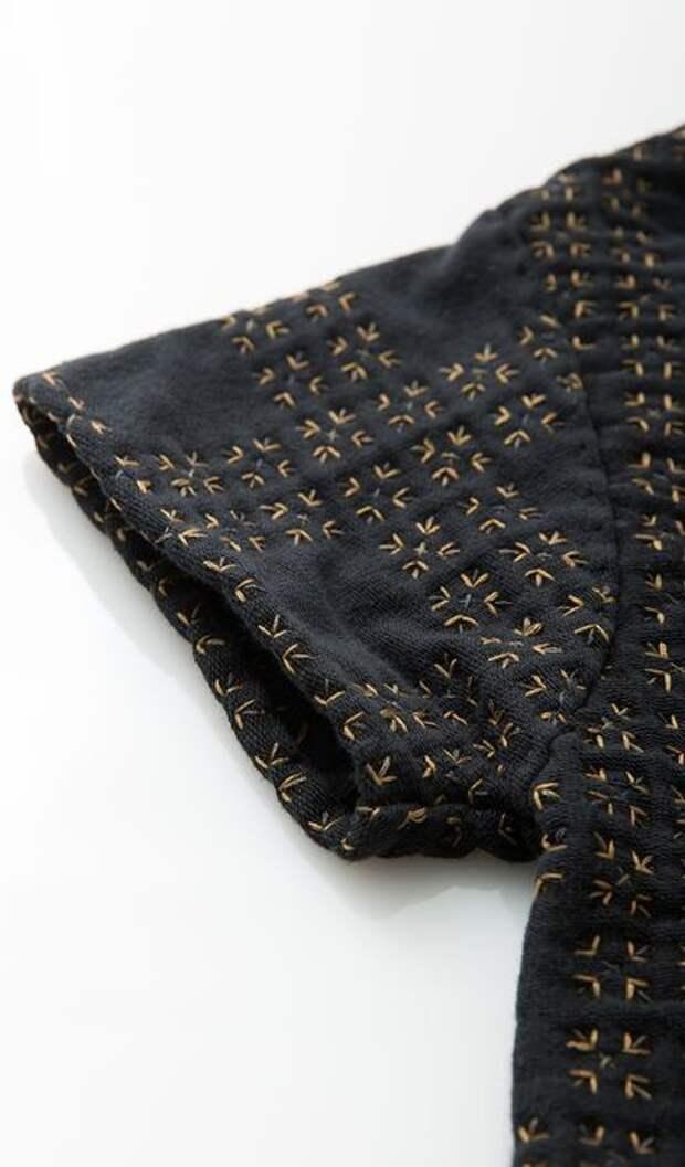 Интересная стёжка-вышивка