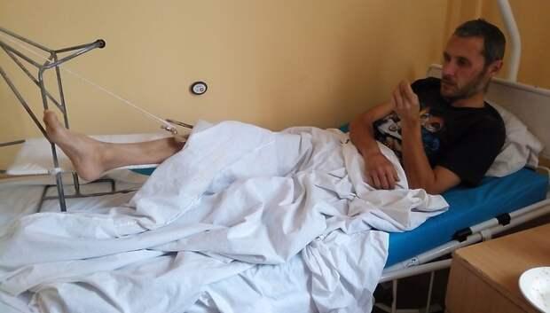 Волонтеры Подольска передали гостинцы приезжему, оказавшемуся в больнице без документов
