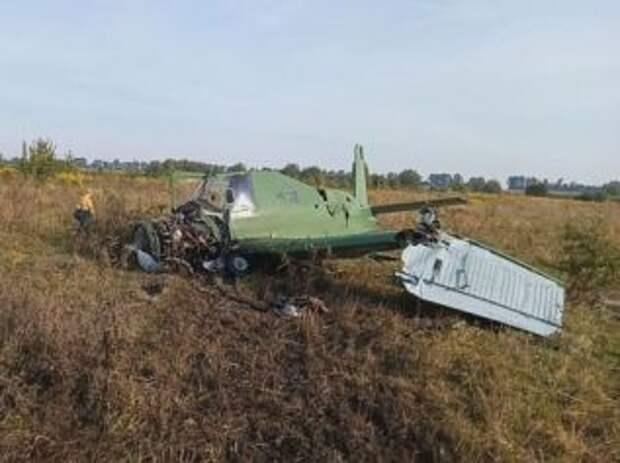 В Житомирской области упал самолет, есть пострадавший