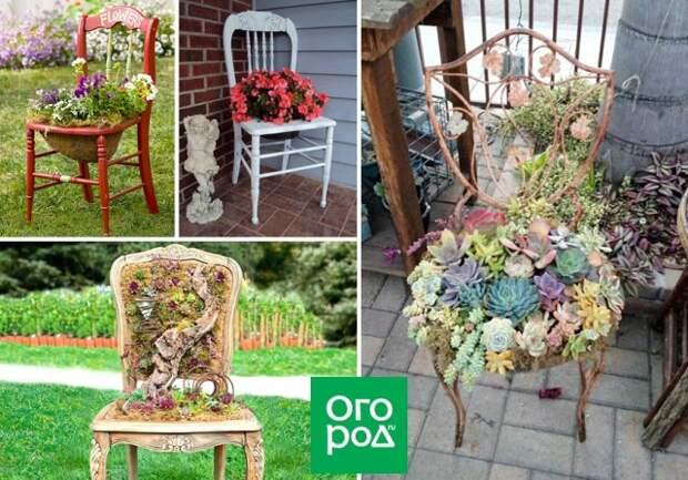 стулья-цветники
