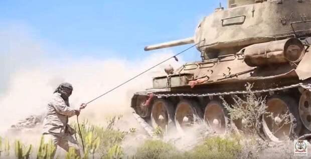 Т-34-85 в Йемене, наши дни. Источник: