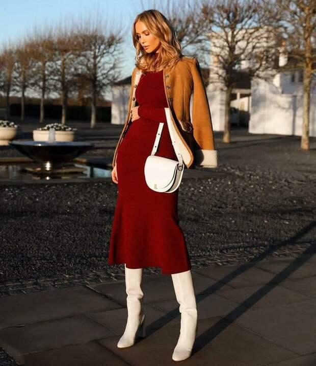 С какими сапогами носить платье осенью и зимой 2020: советы стилистов