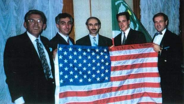 Дудаев на встрече с американской делегацией. Первая половина 90х