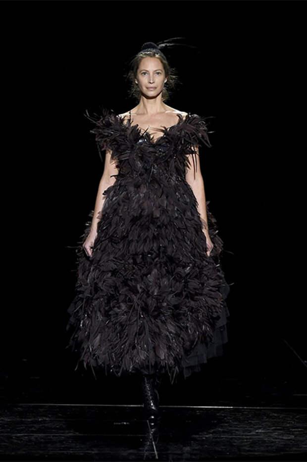 Кристи Тарлингтон на показе Marc Jacobs
