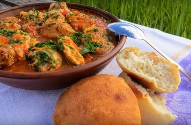 Курица в овощном соусе: блюдо венгерской кухни