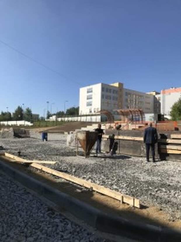 строительство сквера в кировграде