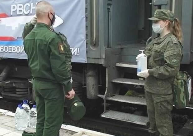 Из Астраханской области отправился воинский эшелон со специалистами ракетных войск