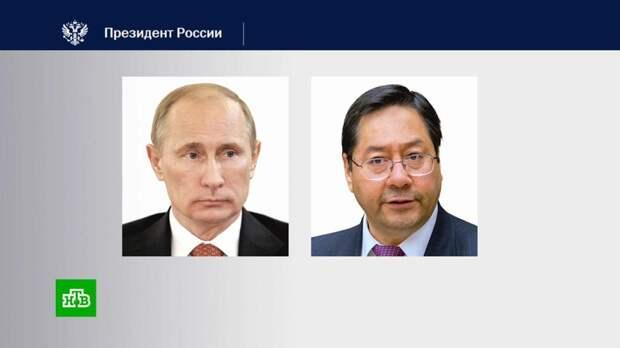 Путин обсудил с президентом Боливии поставки «Спутника V»