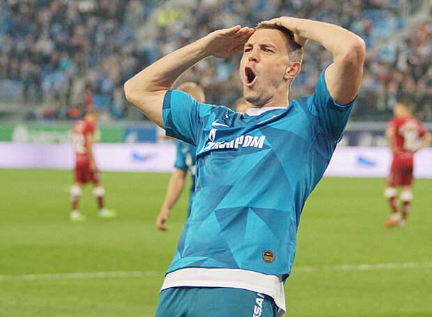 Дзюба – лучший игрок «Зенита» в сезоне по версии болельщиков. В третий раз подряд